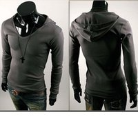 designer clothes for men - 2015 designer clothes for men shirts Mans New Personality British style Men Slim Hooded long sleeved T shirt