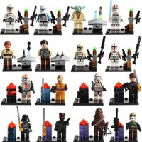 Wholesale New Star Wars Minifigures The Force Awakens Clone Trooper Yoda Building Blocks Sets Model Bricks Toys For Children BJ D5822