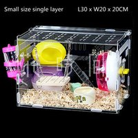 Wholesale Hamster Cage Small Pet Animal Acrylic Cages Rats House Habitats Hutches Storage Box Pets Supplies