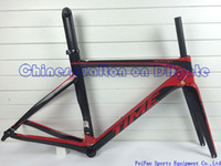 Road Bikes carbon bike frame - 2015 newest time skylon carbon road bicycles frames seat post fork frame headset brake wind bike BB386 BB30 BB68
