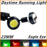 auto led tail lamp - 2Pcs High Power V Auto Car Eagle Eye Waterproof LED Daytime Running lights MM DRL Fog Parking Brake light Tail Warning lamp