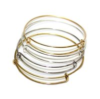 Cheap Alex And Ani Bracelets Gold & Silver Plated Copper Expandable Wire Bangles For Beading Charm Ladies Girls Fashion Jewelry Y129