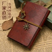 Wholesale 5pcs Vintage Style Leather Cover Notebook Journal Diary Pirate Blank String Nautical Feida diary book
