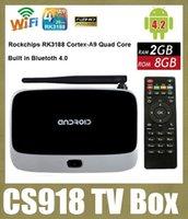 smart tv - Android TV Box CS918 smart set top box Quad Core RK3188 GB GB Android Google IPTV Mini PC RJ45 Airplay DLNA Micracast OTH034