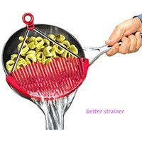 Wholesale New Kitchen Pot Pan Top Drainers Expandable Strainer Sieve Colander Water Filter ss1234