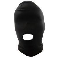 Wholesale Fetish Fantasy Lightweight Spandex Open Mouth Hood Head Harness Master Slave Role Play Muzzles Bondage SM Set