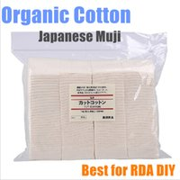 pad - 100 japanese cotton muji organic cotton unbleached cotton Pad Wick Nature Cotton for rda rba Atomizer clone Rebuildable ATTY DIY Wicking