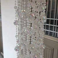 bead stringing supplies - New Arrival Shiny Acrylic Beads Crystal Tree Decoration Bead Chain String Crystal Garland Strands For Wedding Xmas Supplies