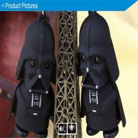 Wholesale Christmas gifts Star Wars Darth Vader Keychain LED Luminous Music light sound keyring Creative Chain Key flashlight Pendant