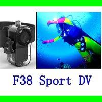 thumb camera - Extreme HD P fps Mini Sport Helmet Camera Action Cam Alloy Shell Mini DV F38 Thumb Camera Waterproof M Car DVR DHL