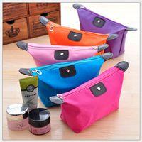 Wholesale Simple makeup bag fashion Waterproof travel bag cosmetic organizer make up storage for women W0008