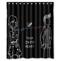 Wholesale NEW high quality Twenty One Pilots waterproof Water Drops bathroom x72 inch shower curtain