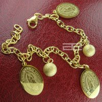 Wholesale Women K CT Yellow Gold GP The Virgin Mary Bracelet jewelry b134