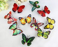 banquet lamp - 2015 new Sticky Butterfly LED Seven Color Changing Glow Lamp Christmas Party Night Pub Banquet Decoration