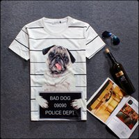 bad dog clothing - New arrival Fashion clothes couple T shirt bad dog printed men and women short sleeve tees t shirt homme