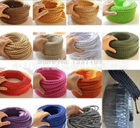 Wholesale colored braided electrical wires cotton textile wires