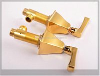 Wholesale New Arrival Luxurious Golden Star Hotel Customized Five Piece Roman Tub Faucet Mixer Tap emergi