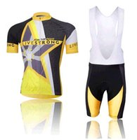 livestrong - Hot Pro Men s Livestrong Cycling Jersey Sets Bicycle Clothes Bicycle Wear Padded Bib Shorts Bike Short Sleeve Jersey