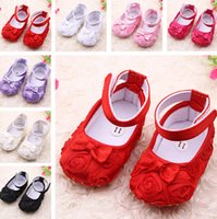 bebe rose - 6 off new arrival first walkers Baby kids Toddler Shoes bebe Spring Autumn Rose flower soft sole girl shoes pairs