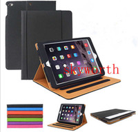 auto tote - For iPad Air2 Mini4 Tan Leather Wallet Case Smart Cover for iPad Air Mini Mini2 Mini3 Retina Auto Sleep Wake UP Stand Flip