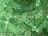 aluminum processing plants - Natural green crystal bruiachite chlorophane granule fluorite crystal quartz stone jewelry processing