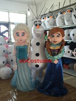 Wholesale Promotions NEW Details about New Arrival New Frozen Princess Elsa mascot costume Best Price