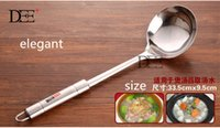 big ladle - stainless steel big soup ladle long handle large spoon soup spoons high quality woman spoons