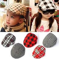 winter ear cap - Kids Boys Girl Beret Cap Toddler Children s Flat Cabbie Hats Cotton Sun Caps Many Colors