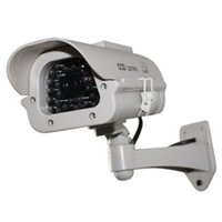 Wholesale Hot Sale Fake Dummy Solar Camera Indoor Outdoor Powered Security Waterproof CCTV Camera Red Blinking LED