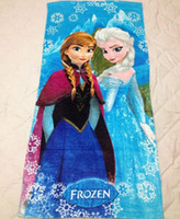 beach towel in bag - 150 cm Frozen Elsa Anna Soft towels cotton Hoodies Baby Shower Towels child Hooded beach towels in opp bag