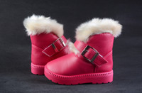 Wholesale 2015 New HOT Girl Boy Sneakers Children Snow Boots Thicken Winter Children Shoes For Baby Kids