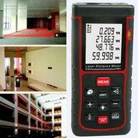 Wholesale M ft Digital Laser distance Meter Rangefinder Range Finder Bubble Level Tape Measure Area volume Tool