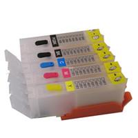empty ink cartridges - For CANON PIXMA MG5440 MG5540 MG6440 IP7240 MX924 IX6540 IX6840 PGI CLI refillable ink cartridge with permanent chip