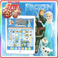 Wholesale 3D Ypad English Learning Machine Frozen style Tablet toys Computer educational TOY for Kids wtih movie sound and music