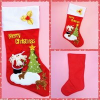 big red decal - Big CM Height Christmas Gift Candy Socks Christmas Tree Decoration Santa Lovely Sockings Large Decals Gift Bags Socks