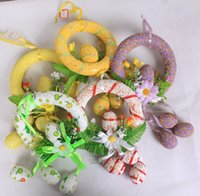 beautiful eggs - Beautiful Lovely Easter Decoration Easter Eggs Ring Best Easter Festival Home Indoor Decoration Easter Hanging Eggs Rings Supplier