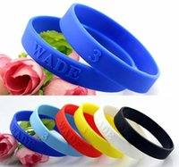 Wholesale 6pcs Classic For Wade Silicone Bracelet Sport Men Embossed Wristband Bangles