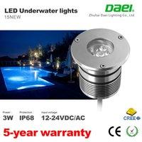 Wholesale Courtyard floor path LED lights LED Pool Light IP68 DC12V V W LED Underwater Light Swimming Pool Led WW CW W R G B