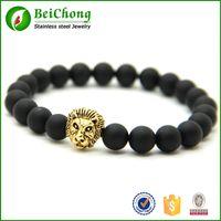 bc lions - BC Hematite Brand Buddha Lion Head Bracelets Bangles Elastic Rope Charm Natural Stone Friendship Mens Bracelets Men Jewelry BC