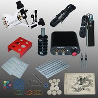 beauty equipment supply - Professional Set V Complete Equipment Tattoo Machine Gun Power Supply Cord Kit Body Beauty DIY Tools Kit