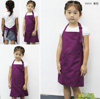 Wholesale New Kids Aprons Pocket Craft Cooking Baking Art Painting Kids Kitchen Dining Bib Children Aprons Kids Aprons have stock