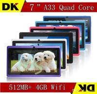 epad - 5PCS inch Capacitive Allwinner A33 Quad Core Android dual camera Tablet PC GB MB WiFi EPAD Youtube Facebook Google USB