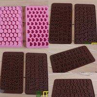 alphabet ice cubes - High quality heart alphabet number shape number Silicone ice cube tray ice tools silicone ice tray Chocolate Mould