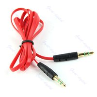 Wholesale 1M mm Male to Male M M Jack Audio Stereo Aux Cable Cord Lead PC MP3 Adapter
