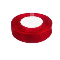 Wholesale 10 rolls Red color wide quot mm Organza Sheer Ribbon Craft Bow Party Decoration OGB