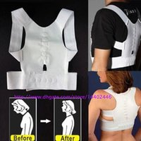 Wholesale Best Price Free DHL Shipping Magnetic Posture Support Corrector Body Back Pain Belt Brace Shoulder