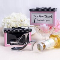 appreciation gifts - New Arrival Fashion Wedding Favors Lottery Gift Metal Heels Bottle Opener Supplies With Appreciation Card