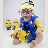 silicone baby dolls - New Hot Silicone Vinyl Baby Reborn Doll cm Lifelike Baby Toys Boneca baby Alive For Girls Boys Gift
