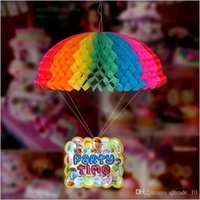 babies sites - 2015 new birthday party wedding site decorations kid flowers colorful parachute garland birthday supplies baby party favor TOPB2900