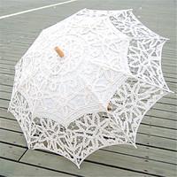 Lace battenburg lace parasol umbrella - 2015 Hot Selling Wedding Parasol White Ivory Sun Umbrella Vintage Battenburg Lace Vintage Bridal Accessories Handmade Diameter cm New